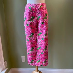 Lilly Pulitzer Pink Palm Beach Fit Ankle Pants 0